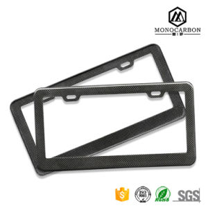 Real Pure Carbon Fiber Glossy Luxury Car License Plate Frame Top Sale in China pictures & photos