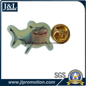 Offset Printing Metal Lapel Pin in Fish Shape pictures & photos