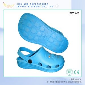 Kids Stylish EVA Footwear, Cartoon Design Blue Kids Clogs for Sale pictures & photos