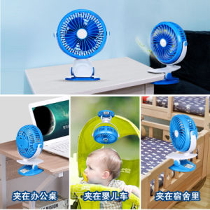 360 Degree Adjustable Portable USB Rechargeable Battery Mini Cooling Clip Fan Oscillating Clip on Desk Baby Stroller pictures & photos