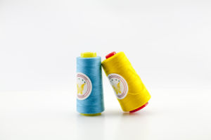 100% Spun Polyester Yarn for Clothing/Garment/Shoes/Bag pictures & photos