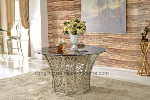 8 Seater of International Glass Big Dining Table for Sale pictures & photos