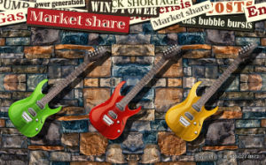 High Quality New Product Guitar Design UV Prined on Wall Panel pictures & photos