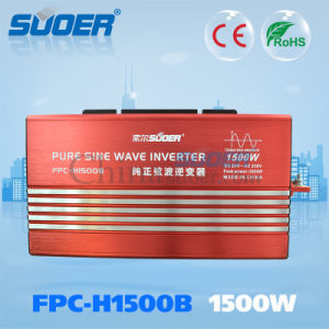 Suoer 1500W 24V 230V Intelligent Pure Sine Wave Power Inverte (FPC-H1500B) pictures & photos