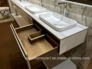 Modern Design Bathroom Furniture Solid Wood Corian Vanity pictures & photos