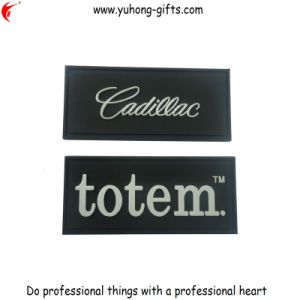 Stiff PVC Tag with Embossed Logo Used for Garment (YH-L016) pictures & photos