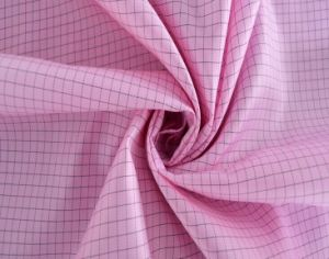 Dust Proof Polyester Grid Anti-Static ESD Garment Fabric pictures & photos