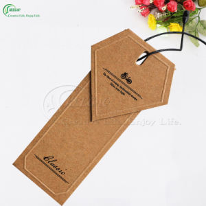 Custom Design Recycled Kraft Paper Hang Tags for Jeans (KG-PA044) pictures & photos