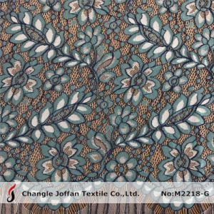 Garment Fabric Fashion Knitted Lace Fabric for Sale (M2218-G) pictures & photos