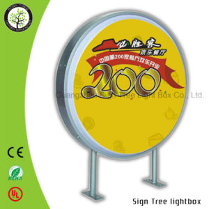 Advertising Round Wall Hanging Acrylic Light Box pictures & photos