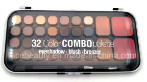 OEM/ODM Professional High Quality Multi-Color 32 Color Combo Palette with Eyeshadow, Blush, Bronzer pictures & photos