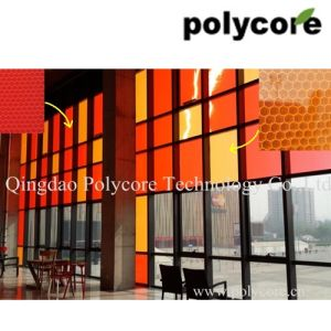 Light Transmission Decorative Honeycomb Panel-Orange pictures & photos