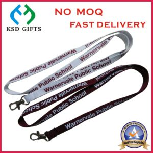 Customized Silk Printed Logo Hot Sell Cheap Neck Lanyard Badge pictures & photos