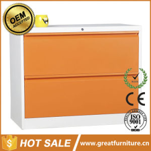 Knock Down Metal 2 Drawer Filing Cabinet with Handle pictures & photos