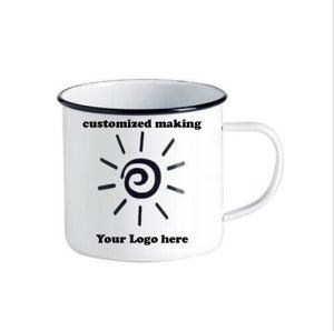 Customlized Making 6/7/8/9/10/11/12cm Enamel Coffee Mug pictures & photos