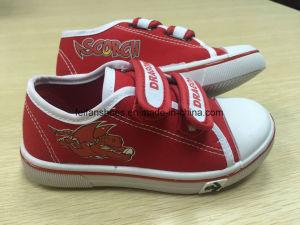 Children′s Injection Velcro Canvas Shoes; Children Skate Shoes(Hh17604 pictures & photos