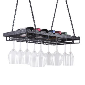 Professional Design Ceiling Wine Glass Hanging Rack pictures & photos