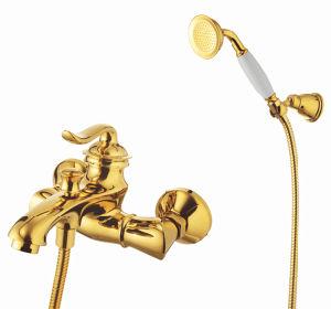 New Design Antique Brass Shower Bath Mixer & Faucet (ZF-275) pictures & photos