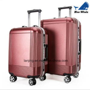 Retro Pull Rod Aluminum Frame Trunk Universal Wheel Luggage pictures & photos