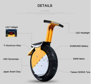 Wholesale Electric Smart Balance Unicycle with Big Headlight and Comfortable Seat pictures & photos