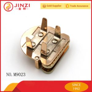 Gold Shinning Color Beautiful Handbag Decorative Metal Press Lock pictures & photos