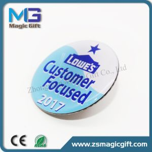 Promotional Cheap Customized Metal Printing Pin with Epoxy Dome pictures & photos