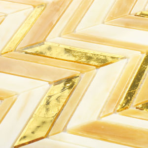 Italian Design Kitchen Bathroom Walls Gold Tiles Stained Glass Mosaic pictures & photos