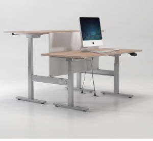 Electric Sit Stand Desk for Office Computer with Height Adjustable pictures & photos
