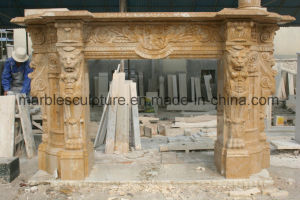Marble Fireplace Stone Mantel Marble Mantel Mfp-025 pictures & photos