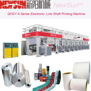 6 Colors 1000mm Width Electronic Line Shaft Plastic Film Gravure Printing Machine pictures & photos