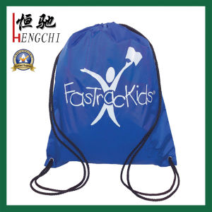 Polyester Drawstring Sports Backpack Gym Bag with Custom Printing pictures & photos