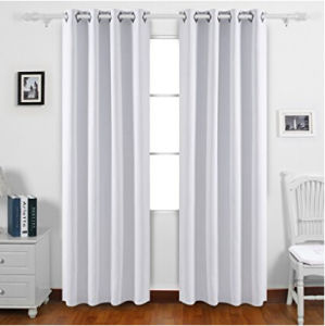 Room Darkening Thermal Insulated Blackout Grommet Window Curtain Panel for Bedroom pictures & photos
