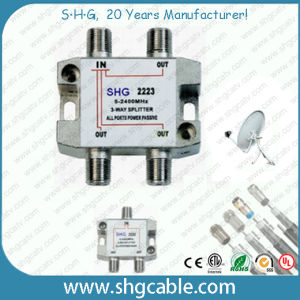 5-2400MHz 3 Way Satellite Splitter (SSPDR3W) pictures & photos