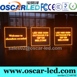 Wireless Outdoor P10 Single Color LED Sign, LED Road Sign LED Vms Sign Board