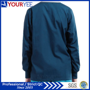 Affordable Hospital Warm Up Snap Front Scrub Jacket Coat (YHS115) pictures & photos