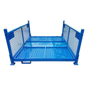 Exported Warehouse Folding Storage Metal Stacking Wire Mesh Cage for Sales pictures & photos