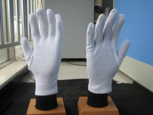 White Light Weight Reversable Cotton Work Glove pictures & photos