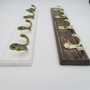 High-Grade Beautiful Clothes Hooks Wooden & Metal Row Hooks (ZH-7004) pictures & photos