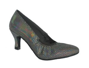 Silver Shine Women′s Standard Dance Shoes pictures & photos