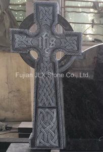 Bahama Blue Granite Celtic Cross Tombstone for UK pictures & photos