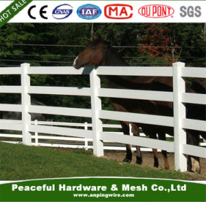 2 &3 &4 Rails White PVC/Vinyl Horse Fence, Ranch Fence pictures & photos