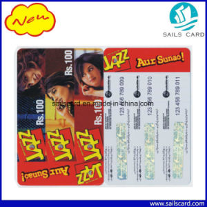 Cr80 Prepaid Recharge Multi-Pin Paper Scratch Card pictures & photos