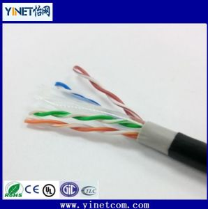 Outdoor Cat5e UTP Water Blocking LAN Cable 24AWG 4pr Twisted Pair Cable pictures & photos