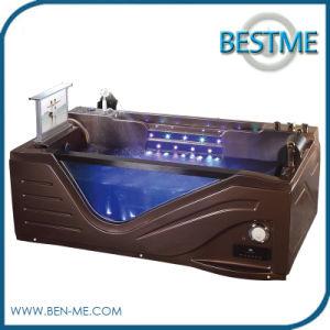 Luxury Coffee Color Bathroom Sanitaryware Whirlpool Acrylic Bath Tub pictures & photos