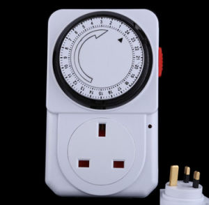 24 Hours Mechanical Programmable Timer Plug Switch Socket UK Plug pictures & photos