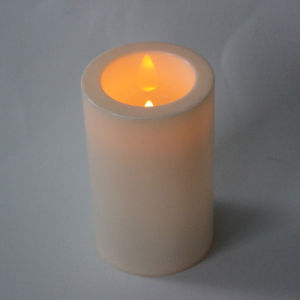 Flameless Cute Battery Operated Safe Use LED Candles with Plastic Coat pictures & photos