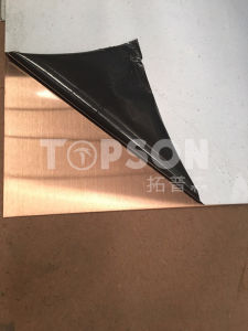 Stainless Steel Sheet Hairline Decorative Colored for MID East Market Project pictures & photos