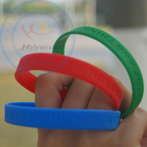 Free Sample Rubber Hand Band Silicone Wrist Slap Bracelet pictures & photos