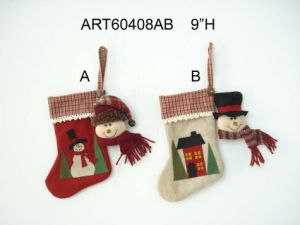 Santa Snowman Stocking Ornament, 2asst. pictures & photos