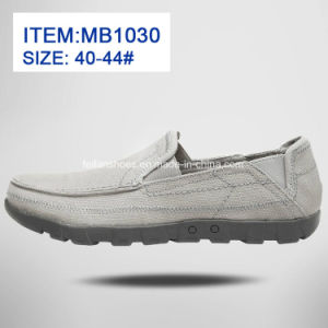 New Style Men′s Slip-on Leisure Canvas Shoes Customize Wholesale (MB1030) pictures & photos